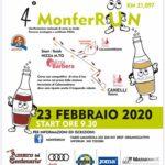 Domenica 23 febbraio quarta edizione della MonferRun