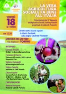 """""""La vera Agricoltura Sociale fa bene all'Italia"""""""
